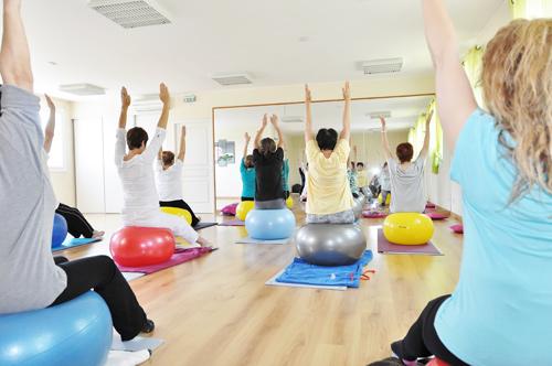 Cours de postural ball,